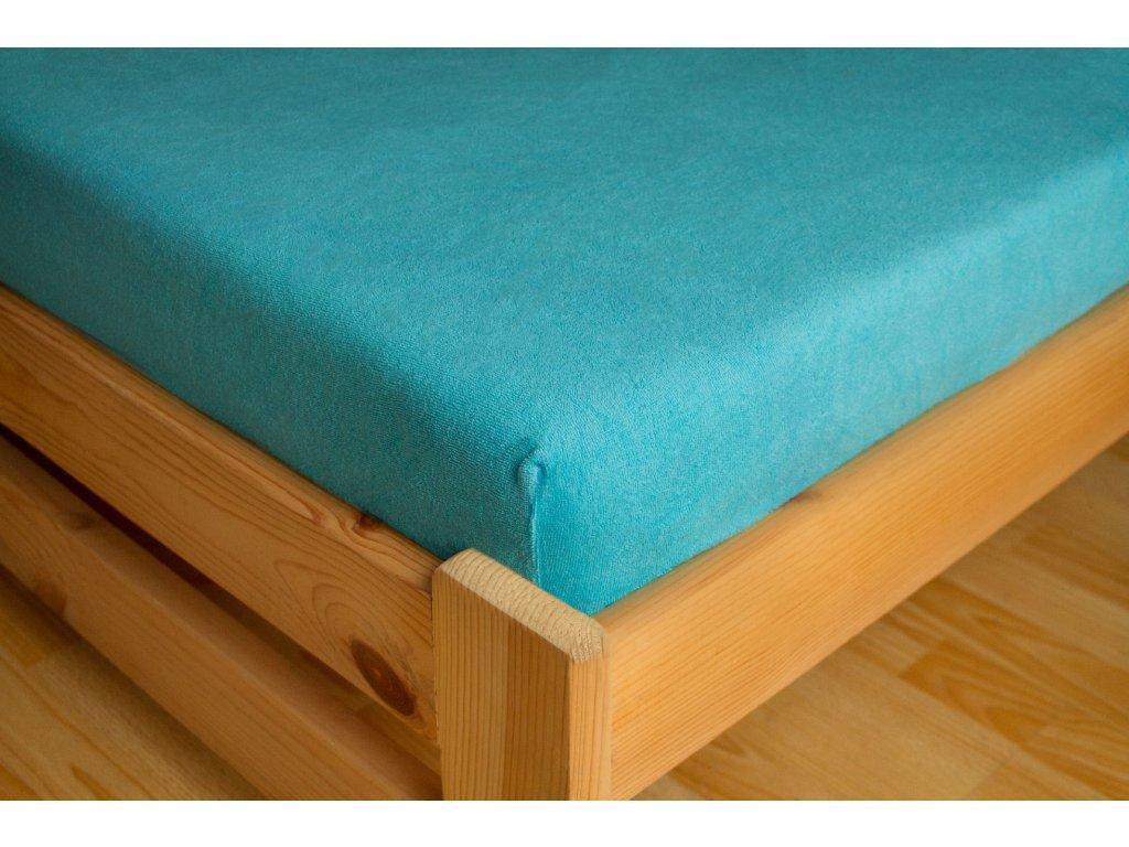Prostěradlo Frote 180x200 Tyrkisová 80% bavlna a 20% polyester