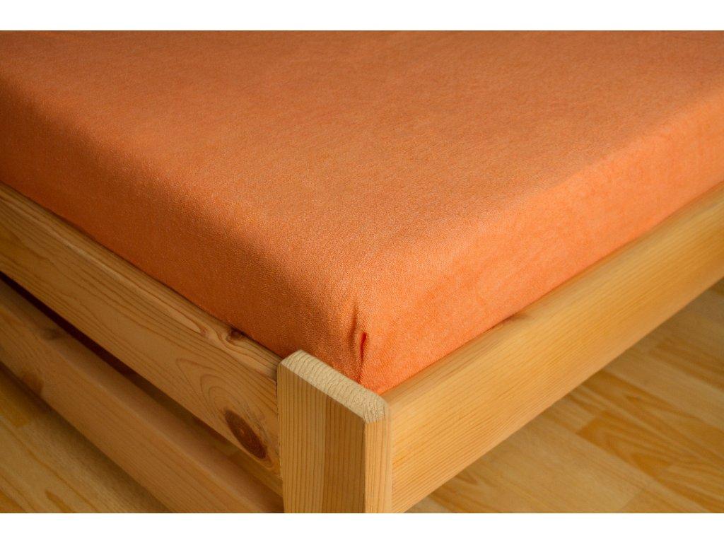 Prostěradlo Frote 180x200 Lososová 80% bavlna a 20% polyester