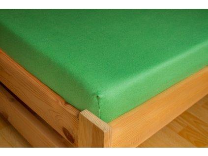 Prostěradlo Jersey 90x200 Tmavě zelená 100% bavlna