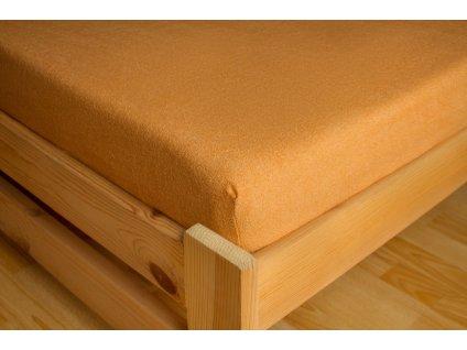 Prostěradlo Frote Premium 90x200 cm, Oranžová