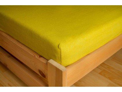 Prostěradlo Frote 180x200 Banánová 80% bavlna a 20% polyester