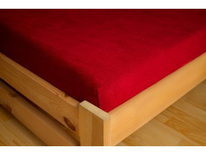 Prostěradlo Frote 180x200 Bordová 80% bavlna - 20% polyester