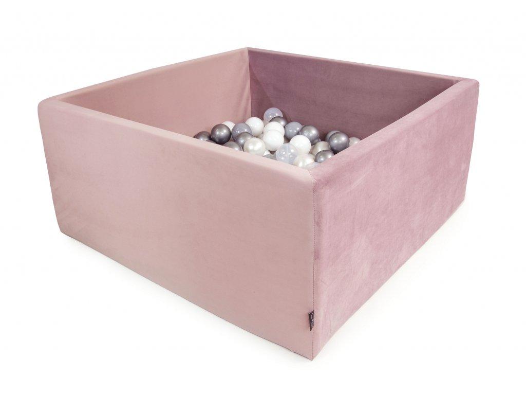 Bazének Velvet růžový + 200 míčků