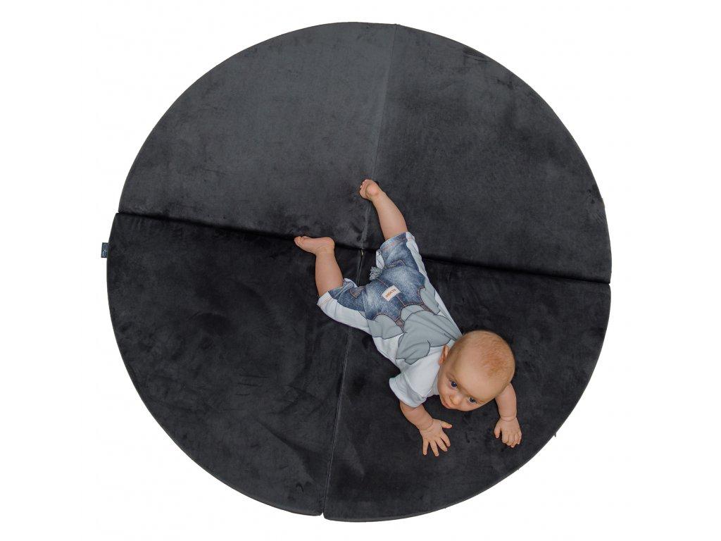 MUMMA Skládací hrací podložka - Velvet grafit