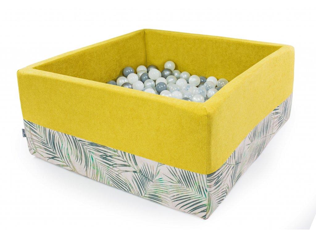 bazének pro děti s míčky žlutý