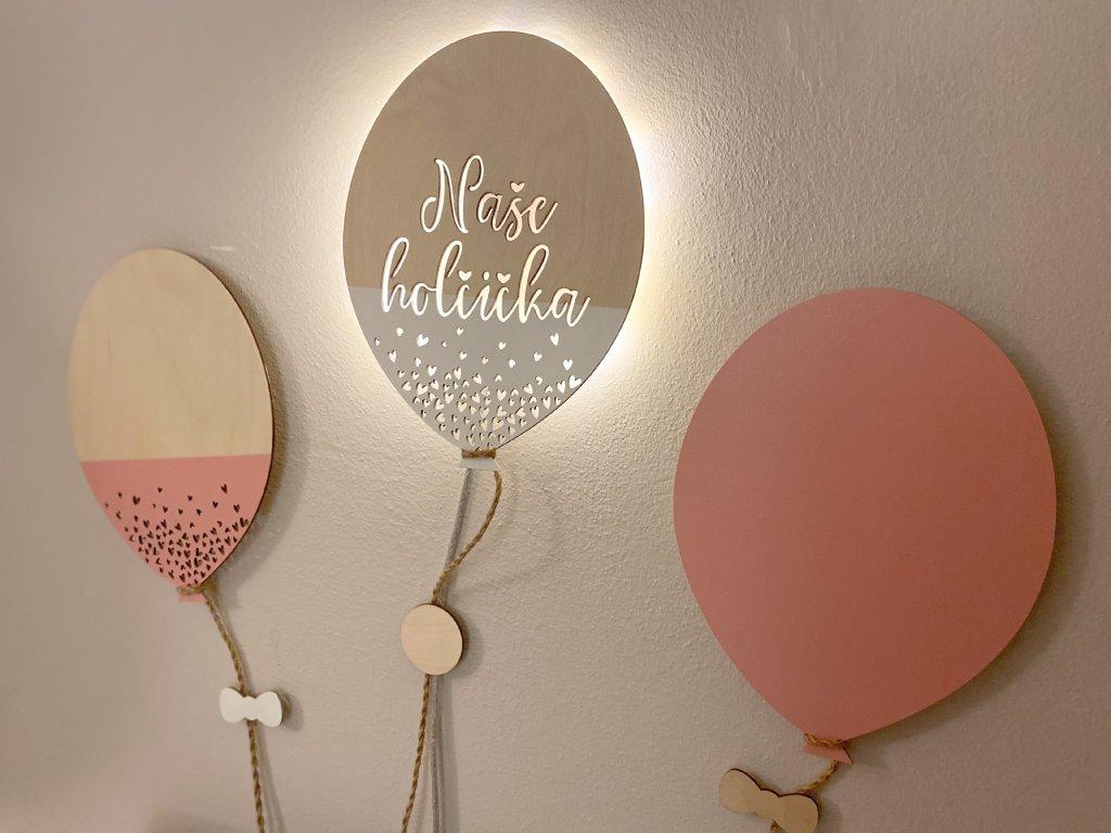 SET 3 ks balónků - NAŠE HOLČIČKA