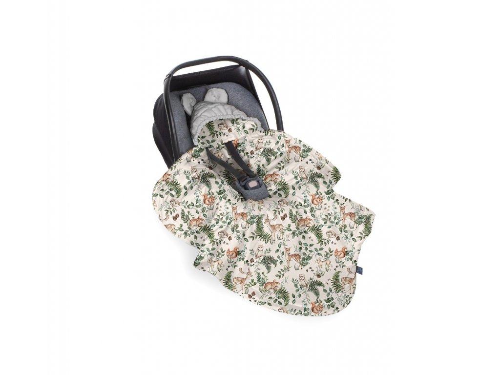 autosedačka se zavinovací dekou pro miminko