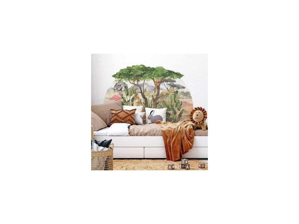safari samolepka na zeď pro děti
