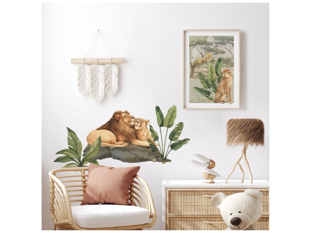 Lev král džungle safari pokojíček