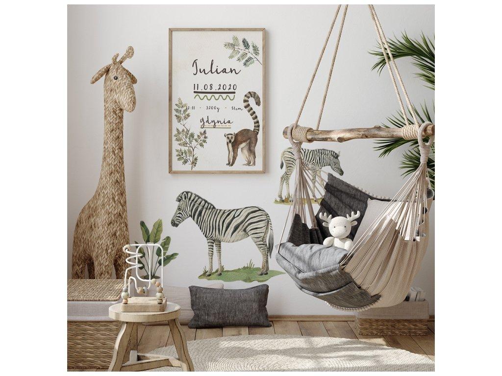 zebry safari pokojíček