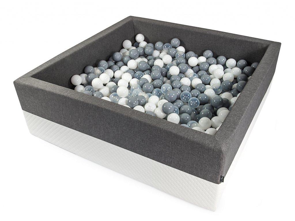tmavě šedá suchý bazének s míčky