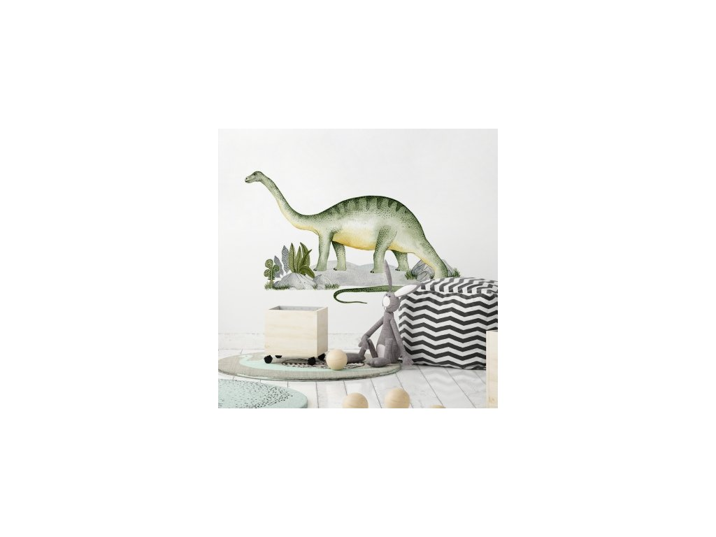 Samolepka na zeď - Brontosaurus
