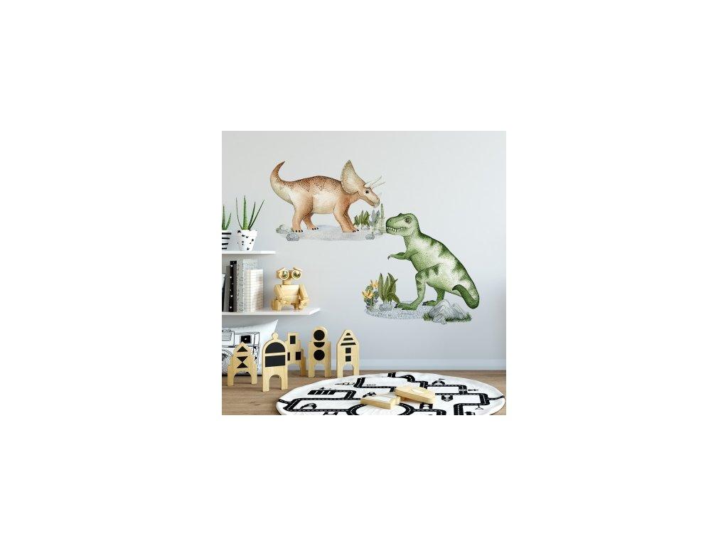 Samolepka na zeď - Dinosauři 2 ks