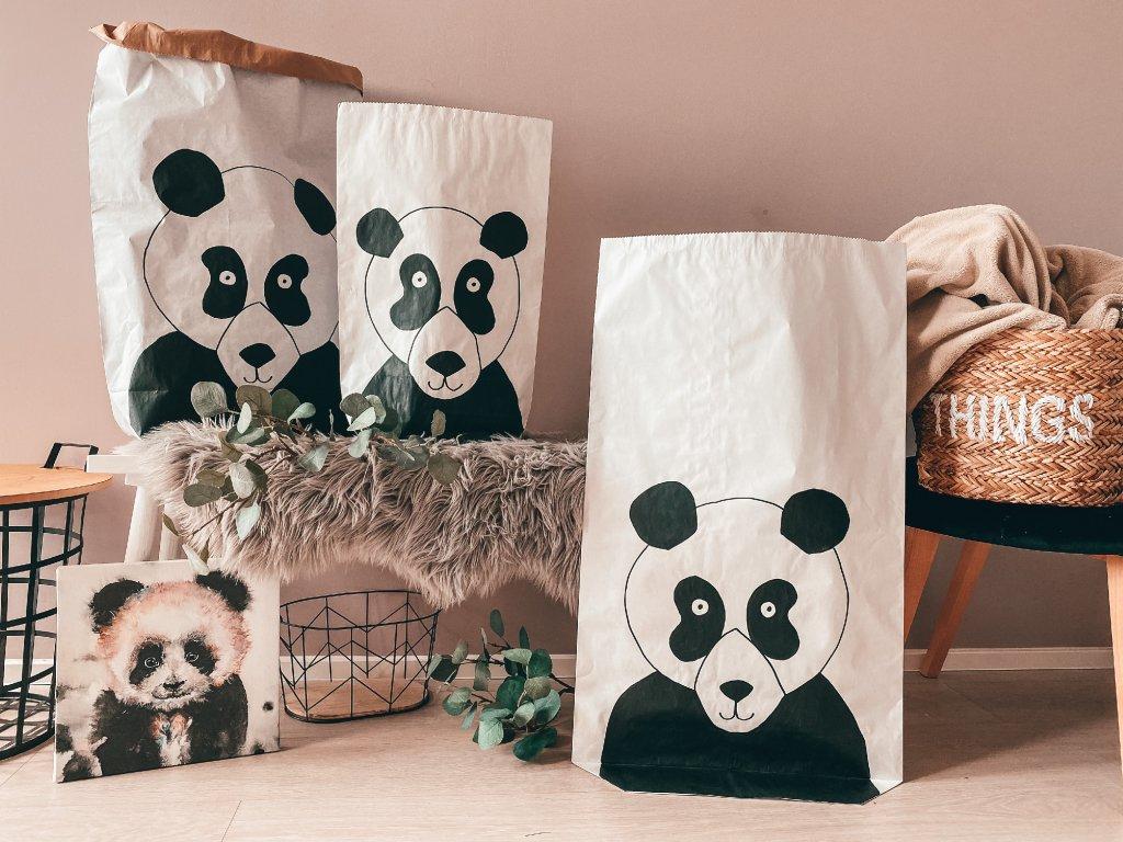 Papírový úložný pytel Panda