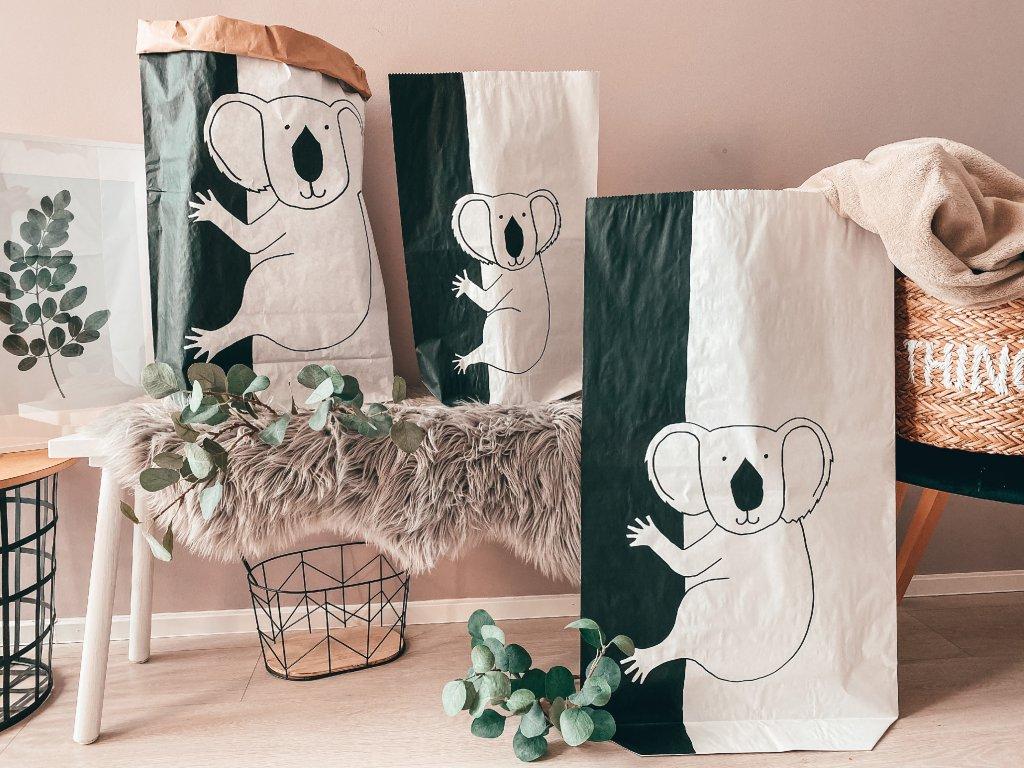 Papírový úložný pytel Koala
