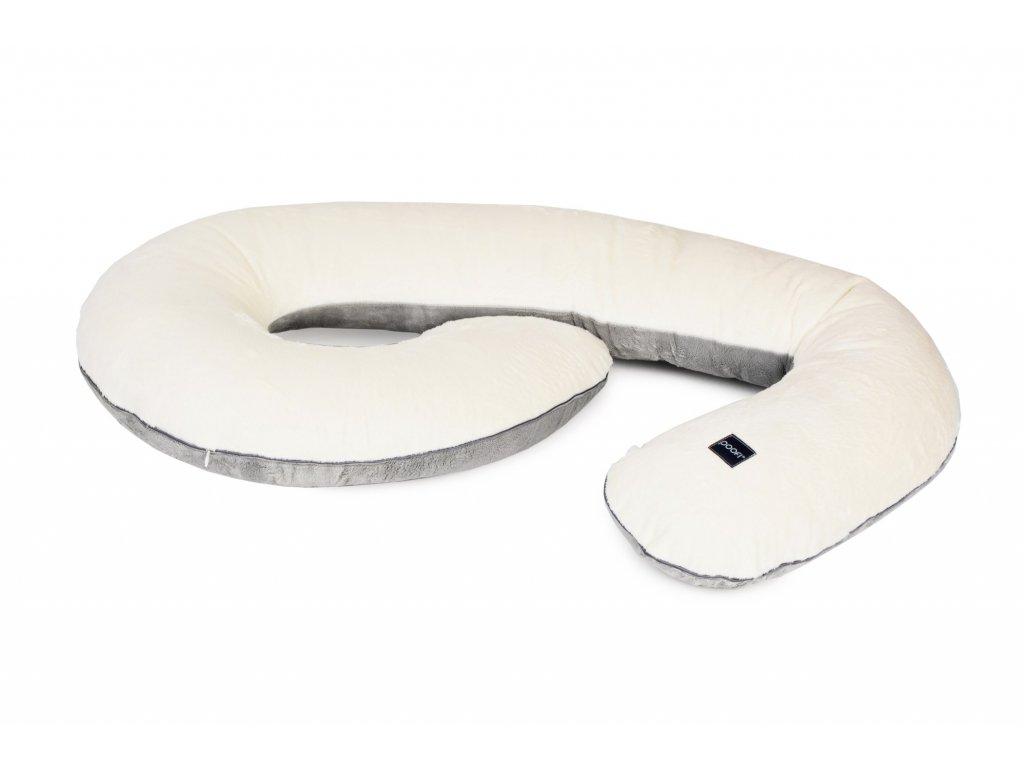 pregnancy pillow minky cream grey pure 1