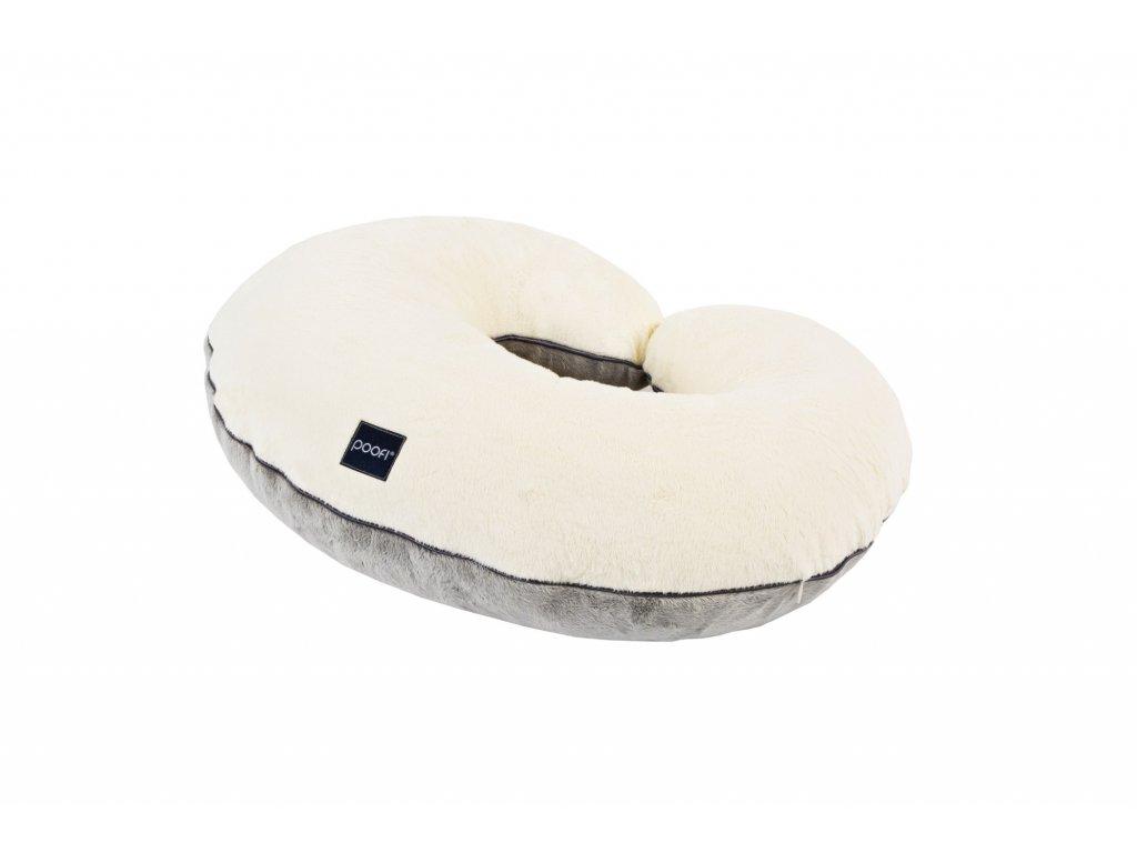 nursing pillow minky cream grey pure