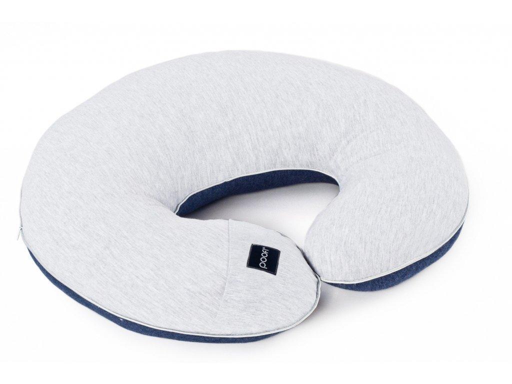 nursing pillow cotton grey blue pure