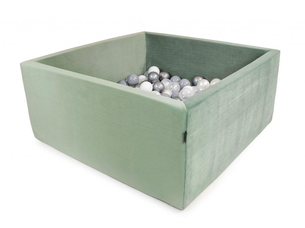 Bazének Velvet tmavě mátový + 200 míčků