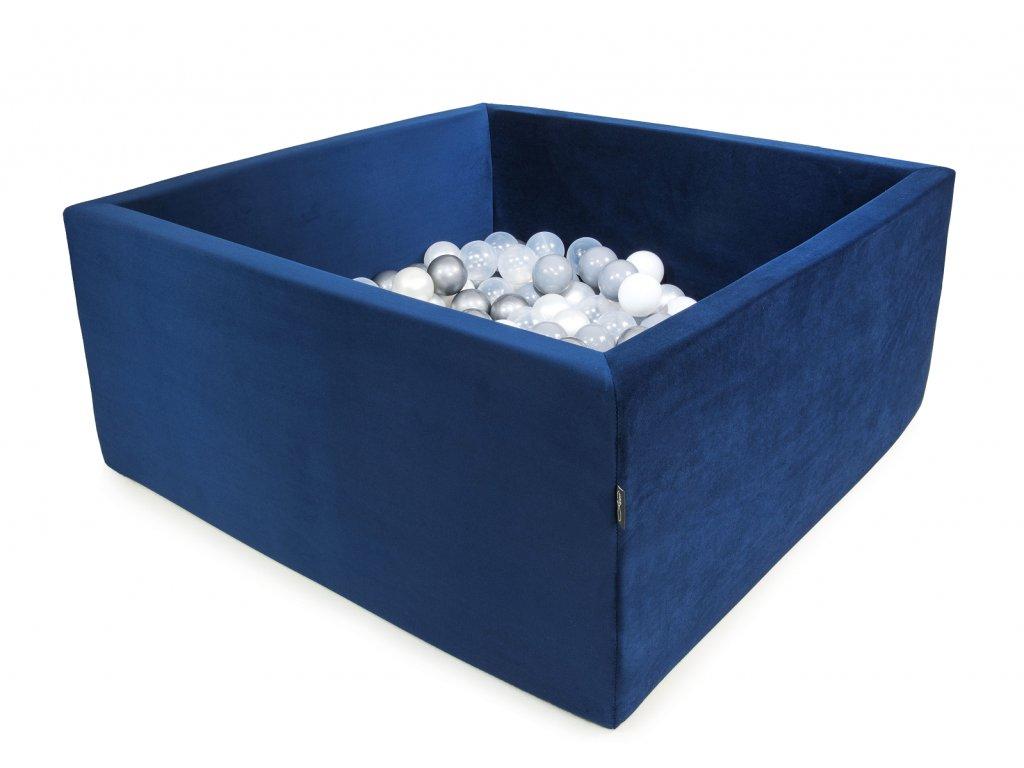 Bazének Velvet královsky modrý + 200 míčků