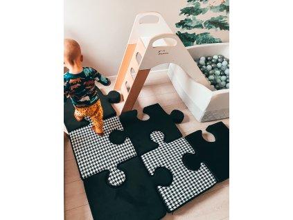 MUMMA Hrací podložka Puzzle černá