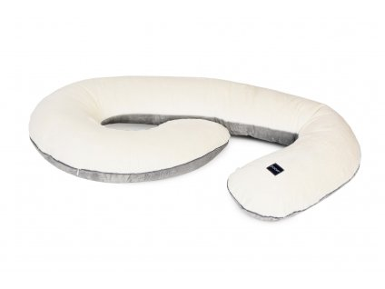 pregnancy pillow minky cream grey pure 1