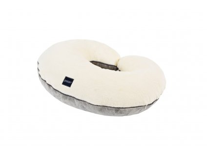nursing pillow minky cream grey pure