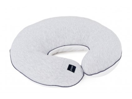 nursing pillow cotton grey white pure