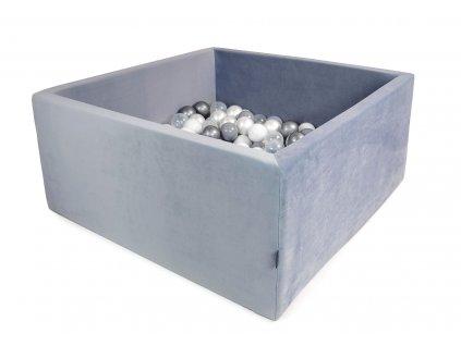 Bazének Velvet šedý + 200 míčků