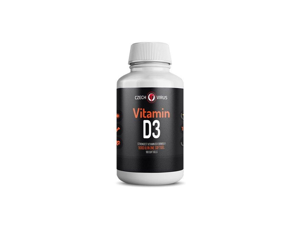 Czech Virus Vitamin D3 180kapslí