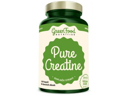 GreenFood Pure Creatine 120 kapslí