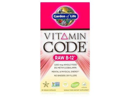 Garden of Life Vitamin B 12 RAW 30 kapslí
