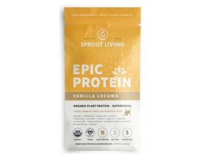 Sprout Living Epic protein organic Vanilka a Lucuma 35 g