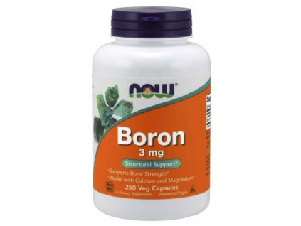 NOW Boron (bor) 3mg 250kapslí