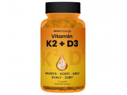 MOVit Vitamin K2 120mcg + D3 1000I.U. 25 mcg 60kapslí