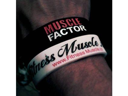 Fitness Muscle náramky Bílá