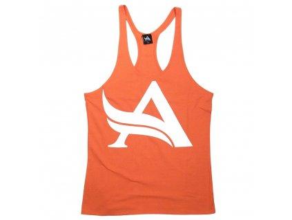 Aesthetix Era pánské tílko Stringer Orange White M Oranžová