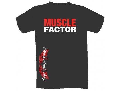 Fitness Muscle tričko MUSCLE FACTOR 2016 S