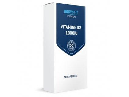 Body & Fit Vitamin D3 1000IU 30 kapslí