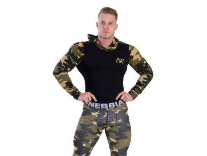 Nebbia pánská bunda Aesthetic Warrior AW 116 M Camo šedé