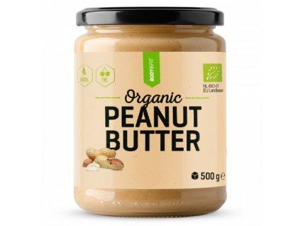 Body & Fit Organic Peanut butter Crunchy - kousky ořechů 500g
