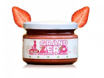 Big Boy Grand Zero s bílou čokoládou a jahodami Smooth - hladká konzistence 250g