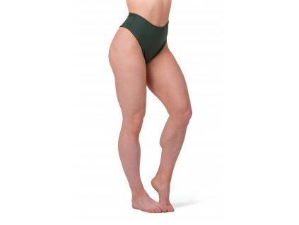 Nebbia High-waist retro bikini 555 green S
