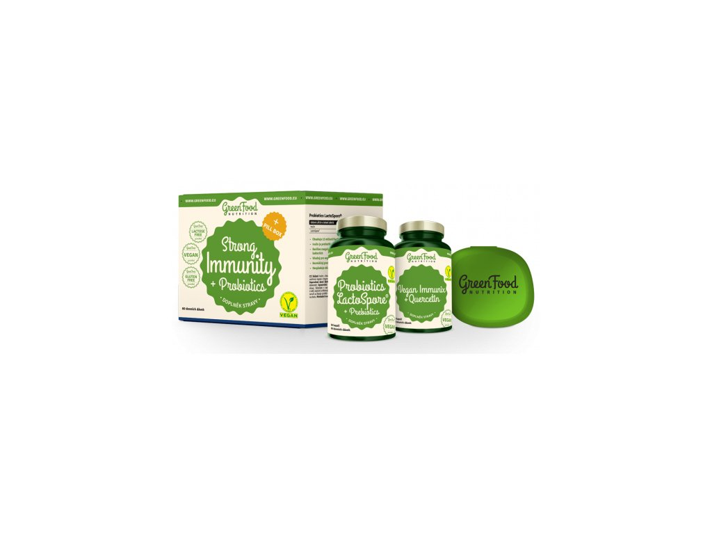 GreenFood Strong Immunity & Probiotics + Pillbox