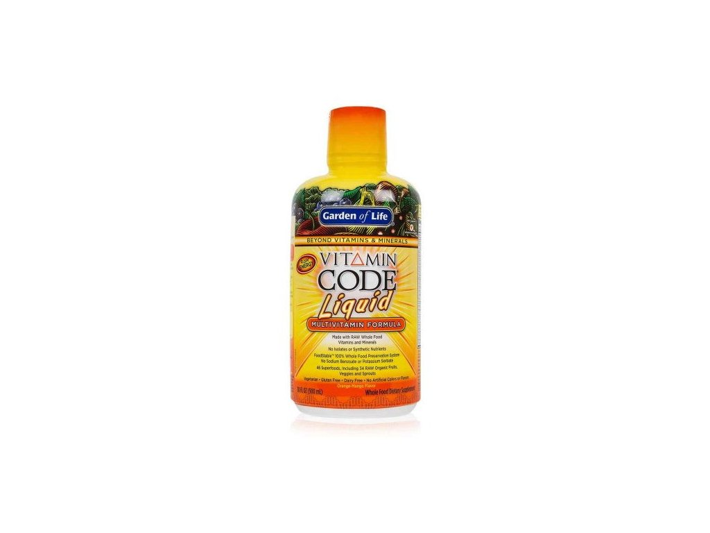Garden of Life Vitamin Code RAW Tekutý multivitamín 900 ml