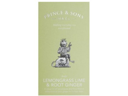 Prince and Sons Lemongrass Lime & Root Ginger 15 vrecúšok 37,5 g