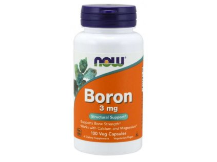 NOW Boron (bór) 3 mg 100 kapsúl