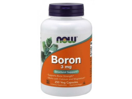 NOW Boron (bór) 3 mg 250 kapsúl