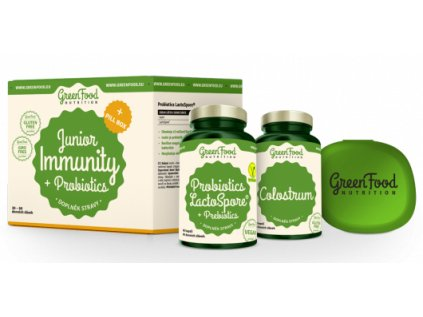 GreenFood Junior Immunity & Prebiotics + PillBox