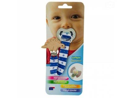 872877 bambino klip na dudlik dreveny s tvary chlapecky vzor